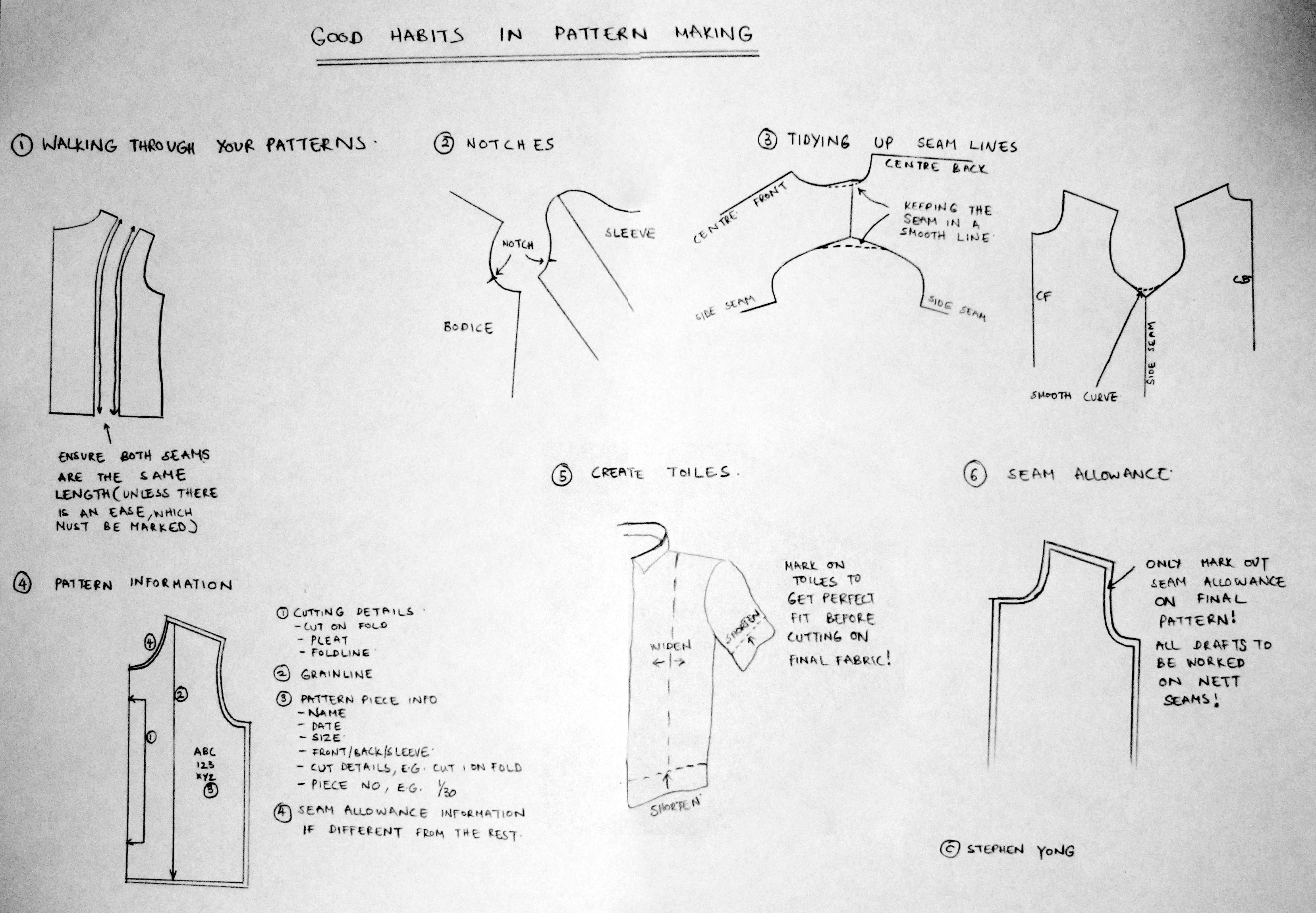 Good Habits in Pattern Making! | Stephen Yong